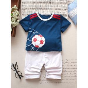 Toddler Boys Football Print Tee With Pants / 幼児の少年...