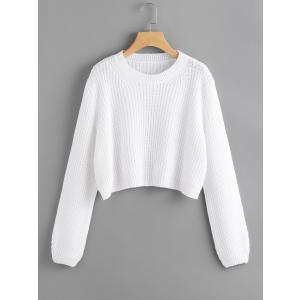 Loose Fit Crop Sweater / ルーズフィットクロップセーター
