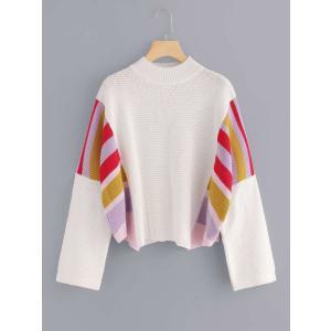 Striped Panel Loose Fit Sweater / ストライプPanelルーズフィッ...