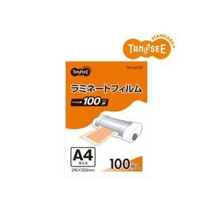(まとめ)TANOSEE ラミネートフィルムグロスタイプ 100μ A4 216×303mm 100枚入×5パック