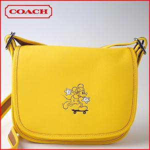 コーチ COACH バッグ ショルダーバッグ F59359 ディズニー コラボ ミッキーマウス レザー パトリシア サドル バッグ|ecarryall