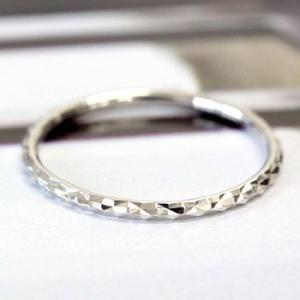 リング レディース 指輪 デザインリング K18 華奢系 ※文字入れ不可 ホワイトデー プレゼント