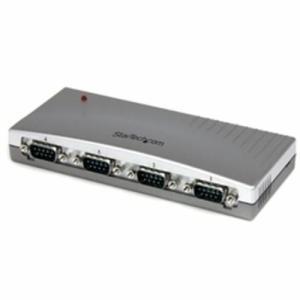 StarTech ICUSB2324(シルバー) RS232C変換ハブ 4ポート|eccurrent