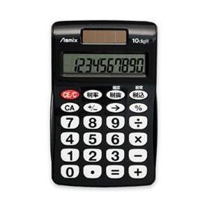 Asmix C1009BK(ブラック) ビジネス電卓 ポケット 10桁 eccurrent