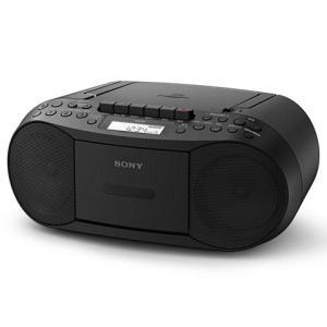 ソニー CFD-S70-B(ブラック) CDカセットレコーダー ワイドFM対応|eccurrent
