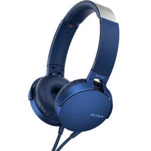 ソニー MDR-XB550AP-L(ブルー) ステレオヘッドホン