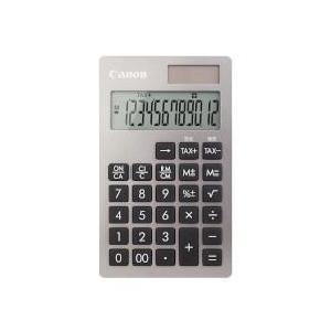 CANON KS-12T-SL(銀) ビジネス電卓 12桁|eccurrent