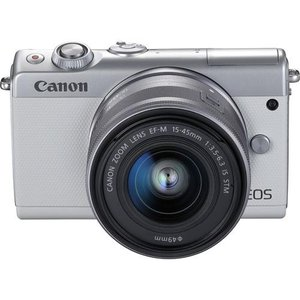 CANON EOS M100 EF-M15-45 IS STMレンズキット(ホワイト)