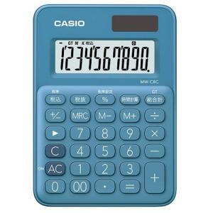 CASIO MW-C8C-BU(レイクブルー) カラフル電卓 10桁|eccurrent