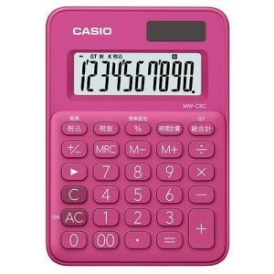 CASIO MW-C8C-RD(ビビッドピンク) カラフル電卓 10桁|eccurrent