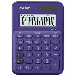 CASIO MW-C8C-PL(パープル) カラフル電卓 10桁|eccurrent