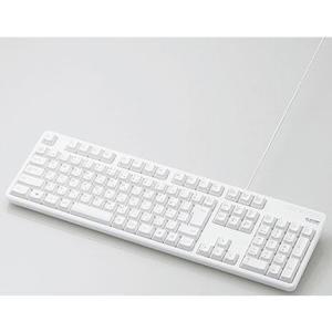 エレコム TK-FCM104WH(ホワイト) 有線キーボード 109キー 日本語配列|eccurrent