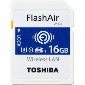 東芝 SD-UWA016G FlashAir W-04 無線LAN内蔵SDHCカード 16GB CLASS10|eccurrent