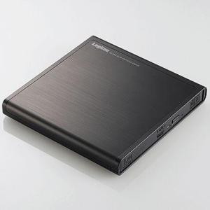 ロジテック LDR-PMJ8U2VBK(ブラック) USB2.0接続 ポータブルDVDドライブ|eccurrent