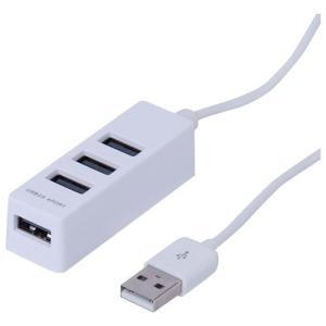 ナカバヤシ UH-2404W(ホワイト) USB2.0 4ポートハブ 30cm|eccurrent