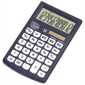 ナカバヤシ ECH-2101T-D(ブラック) 電卓ハンディータイプモノカラー 12桁|eccurrent