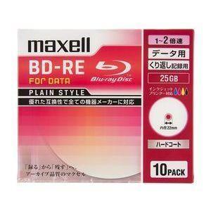 マクセル BE25PPLWPA.10S データ用 BD-RE 25GB 繰り返し記録 プリンタブル 2倍速 10枚|eccurrent