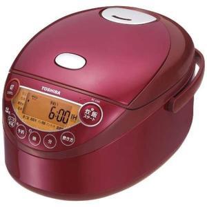 東芝 RC-6XK-R(グランレッド) 備長炭鋳造かまど釜 小容量IHジャー炊飯器 3.5合