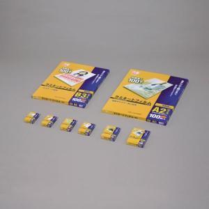 アイリスオーヤマ LZ-TE100 ラミネートフィルム 100ミクロン 定期券カードサイズ 100枚入 eccurrent