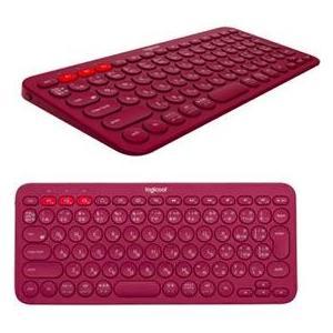ロジクール K380RD(レッド) マルチデバイス Bluetooth キーボード|eccurrent