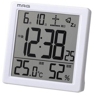ノア精密 T-726 温度湿度表示付きクロック カッシーニ