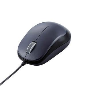エレコム M-Y8UBBK(ブラック) 3ボタンBlueLED有線マウス eccurrent
