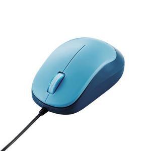 エレコム M-Y8UBBU(ブルー) 3ボタンBlueLED有線マウス eccurrent