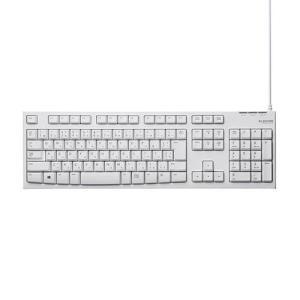 エレコム TK-FCM062WH(ホワイト) USB接続 スタンダードキーボード eccurrent