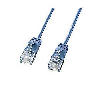 サンワサプライ KB-SL6-005BL(ブルー) LANケーブル カテゴリー6対応 ギガビットイーサネット 0.5m