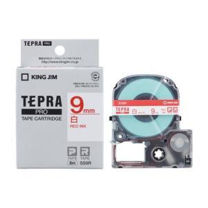 キングジム テプラPRO 白ラベル 白 赤文字 9mm SS9R|eccurrent