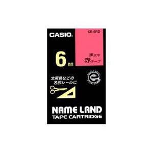 CASIO XR-6RD ネームランド スタンダードテープ 赤/黒文字 6mm eccurrent