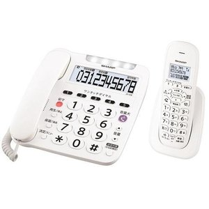シャープ JD-V38CL(ホワイト) デジタルコードレス電話機 子機1台|eccurrent