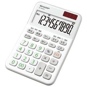 シャープ EL-M335-WX(ホワイト) カラー・デザイン電卓 10桁 eccurrent