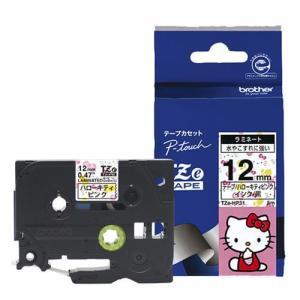 ブラザー TZe-HP31 ピータッチ ハローキティキャラクター 黒文字/ハローキティピンク 12mm eccurrent