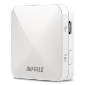 バッファロー WMR-433W-WH(ホワイト) Wi-Fiポータブルルーター IEEE802.11ac/n/a/g/b|eccurrent