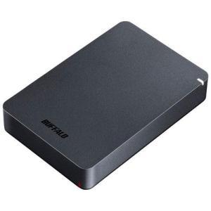 バッファロー HD-PGF4.0U3-GBKA(ブラック) ポータブルHDD 4TB USB3.1(Gen1) /3.0/2.0接続 耐衝撃|eccurrent