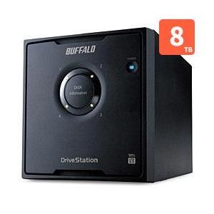 バッファロー HD-QL8TU3/R5J 外付HDD 8TB USB3.0接続 RAID対応 4ドライブ|eccurrent