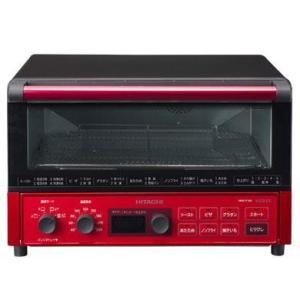 【長期保証付】日立 HMO-F100-R(メタリックレッド) コンベクションオーブントースター 1300W