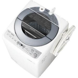 【設置+リサイクル+長期保証】シャープ ES-GV8B-S(シルバー系) 全自動洗濯機 上開き 洗濯8kg/乾燥8kg eccurrent