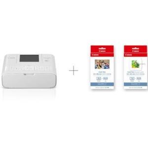 【長期保証付】CANON SELPHY(セルフィー) CP1300(ホワイト) コンパクトフォトプリンター カードプリントキット eccurrent