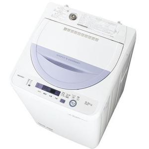 【設置+リサイクル】シャープ ES-GE5A-V(バイオレット) 全自洗 上開き 洗濯5.5kg eccurrent