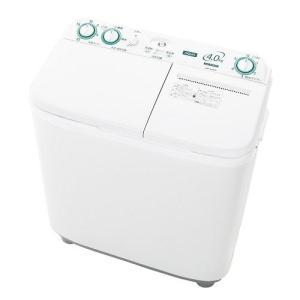 【設置+リサイクル】アクア AQW-N40-W(ホワイト) 2槽式洗濯機 洗濯4kg/脱水4kg