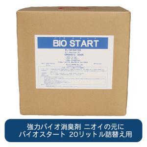 きつい腐敗臭を強力分解バイオ消臭剤 バイオスタート 20リットル|ececo