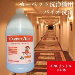 カーペット洗浄機専用バイオ洗剤 カーペットエース(Carpet Ace)3.78リットル 1ケース(4本入り)|ececo