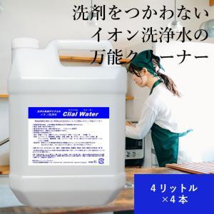 万能洗剤 イオン洗浄水 クライアルウォーター(Crial Water) 4リットル1ケース(4本入り)|ececo