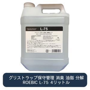 グリーストラップ管理用バクテリア製剤 ROEBIC L-75 4リットル|ececo