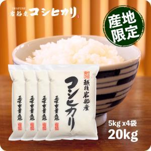 新米 岩船産コシヒカリ 20kg - 令和元年産 こしひかり お米 5kg x4袋 新潟産 送料無料|echigo-inahoya