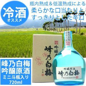 日本酒 峰乃白梅 吟醸原酒 720ml斗瓶 峰乃白梅酒造 echigo