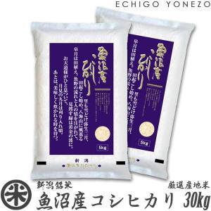 新米 29 魚沼産コシヒカリ 特A  30kg 5kg×6袋...