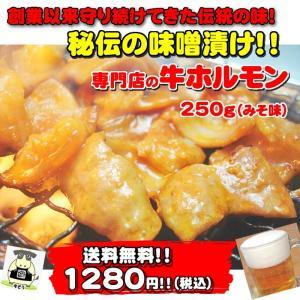 専門店の牛ホルモン みそ味 250g 送料無料 期間限定販売の特別品|echizennohorumonya
